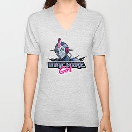 Machine Girl Unisex V-Neck