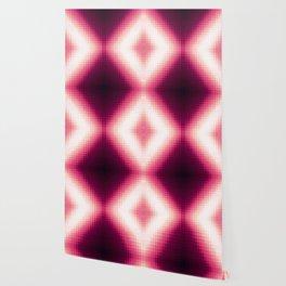 Burgundy Magenta Pink Pixels Wallpaper