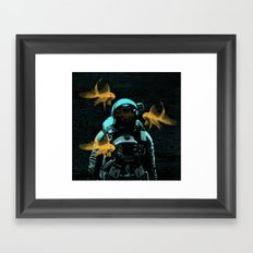 astronauts and goldfish Framed Art Print