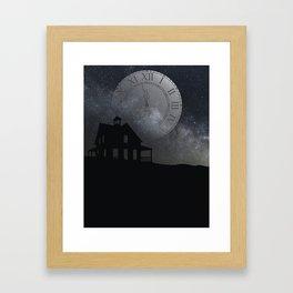back before midnight Framed Art Print