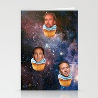 nicolas cage Stationery Cards featuring Cage Nebula by Jared Cady