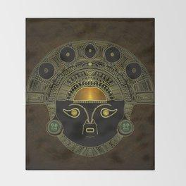 God Sun mask (INTI) Throw Blanket