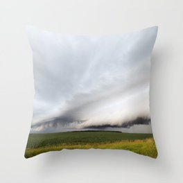 Beautiful Shelf Clouds Throw Pillow