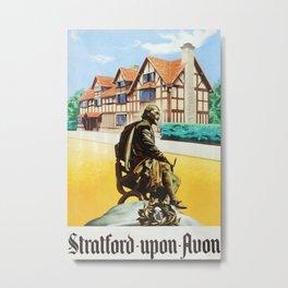 Stratford-Upon-Avon Vintage Travel Poster Metal Print