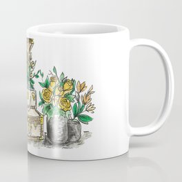Flower Suit Cases Coffee Mug