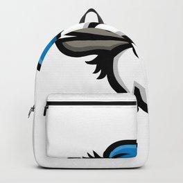 Blue Jay Head Mascot Backpack