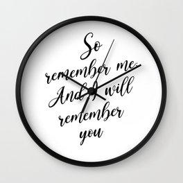 So Remember Me So I Will RememberYou - Quran 2:152 Wall Clock