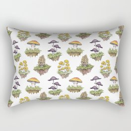 Mushroom Island Pattern Rectangular Pillow