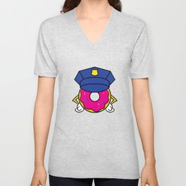 """Donut Cops"" tee design. Perfect for sweets and donut lovers out there! Makes an adorable gift too!  Unisex V-Neck"