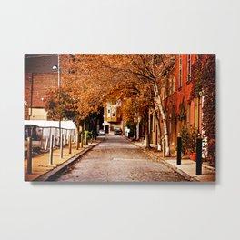 Autumn Sidestreet Metal Print
