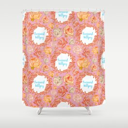 Cute Feminist Killjoy Floral Print Shower Curtain