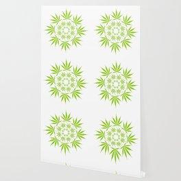 Cannabis Leaf Circle (White) Wallpaper