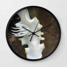White nudibranch Wall Clock