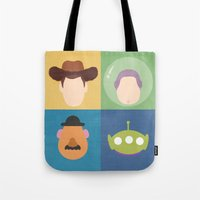 toy story Tote Bags featuring Toy Story by Raquel Segal