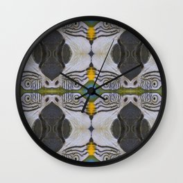 Parrot collage Wall Clock