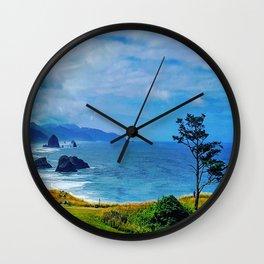 Blue Cannon Beach Wall Clock