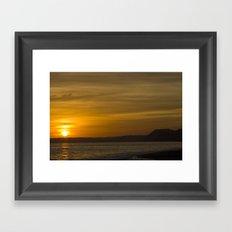 Jurassic Coast Glow Framed Art Print
