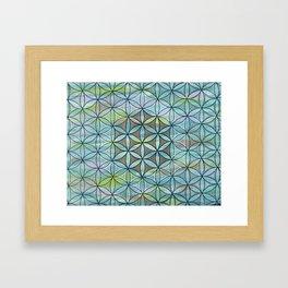 Hidden Forrest Flower of Life Mandala Framed Art Print