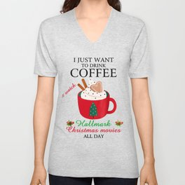 I Want To Drink Coffee Unisex V-Neck