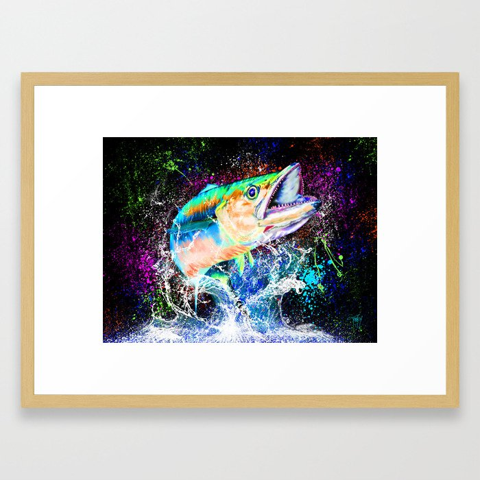 King Mackerel Blast Framed Art Print