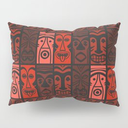 Lava Red Tikis! Pillow Sham