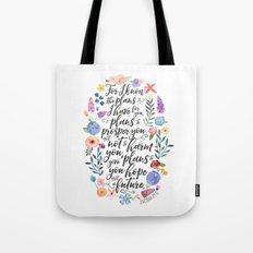 Hope and a Future - Jeremiah 29:11 Tote Bag