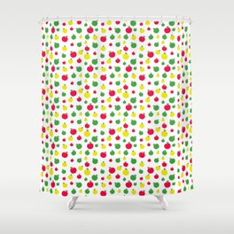 Apple Seamless Pattern Shower Curtain