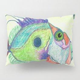 Funky Fish Art - By Sharon Cummings Pillow Sham