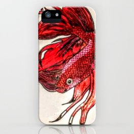 The Lone Fish iPhone Case