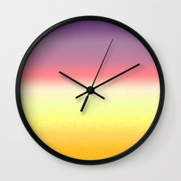 Passion Fruit Gradient Wall Clock