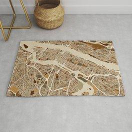 New York City Street Map Rug