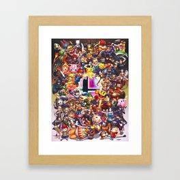Smash Brothers Framed Art Print