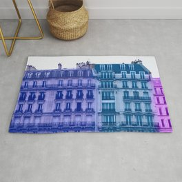 Colorful Paris Buildings Rug