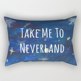 Take Me To Neverland | Galaxy Rectangular Pillow