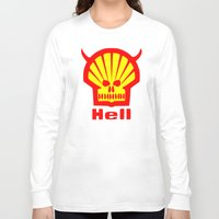 hell Long Sleeve T-shirts featuring HELL by karmadesigner
