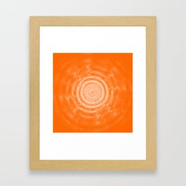 Ripples_Orange Framed Art Print