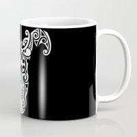 warrior Mugs featuring Warrior by Boz Designs