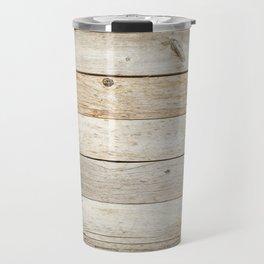 Rustic Barn Board Wood Plank Texture Travel Mug