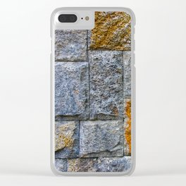 stones-wall Clear iPhone Case