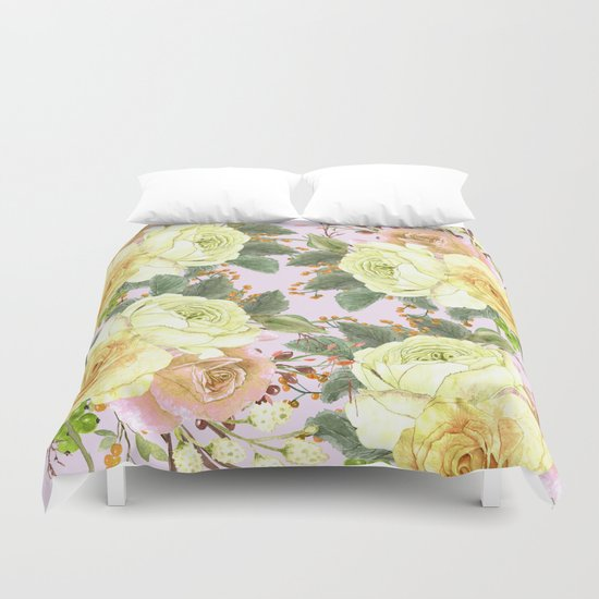 Watercolor Roses #4 Duvet Cover