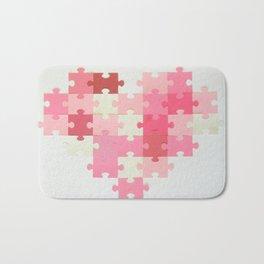 Puzzled Heart Bath Mat