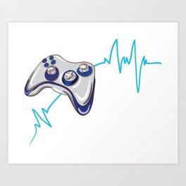 Gamer Heartbeat Art Print