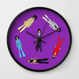 Outfits of Purple Fashion on Purple Wall Clock