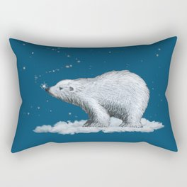 Polar Bear Snowflake Kiss Rectangular Pillow