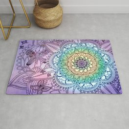 Purple Butterfly Mandala Rug