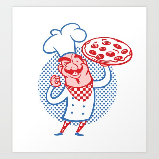 Pizza Chef Art Print