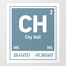 City Hall Element Art Print