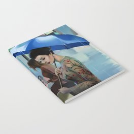 HER BLUE UMBRELLA Notebook