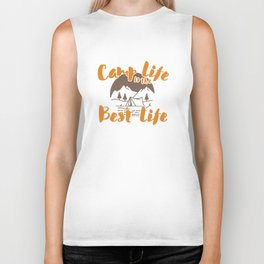 Camp Life Is The Best Life Camping Gift Biker Tank