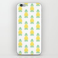pineapple iPhone & iPod Skins featuring Pineapple by Jacqueline Maldonado
